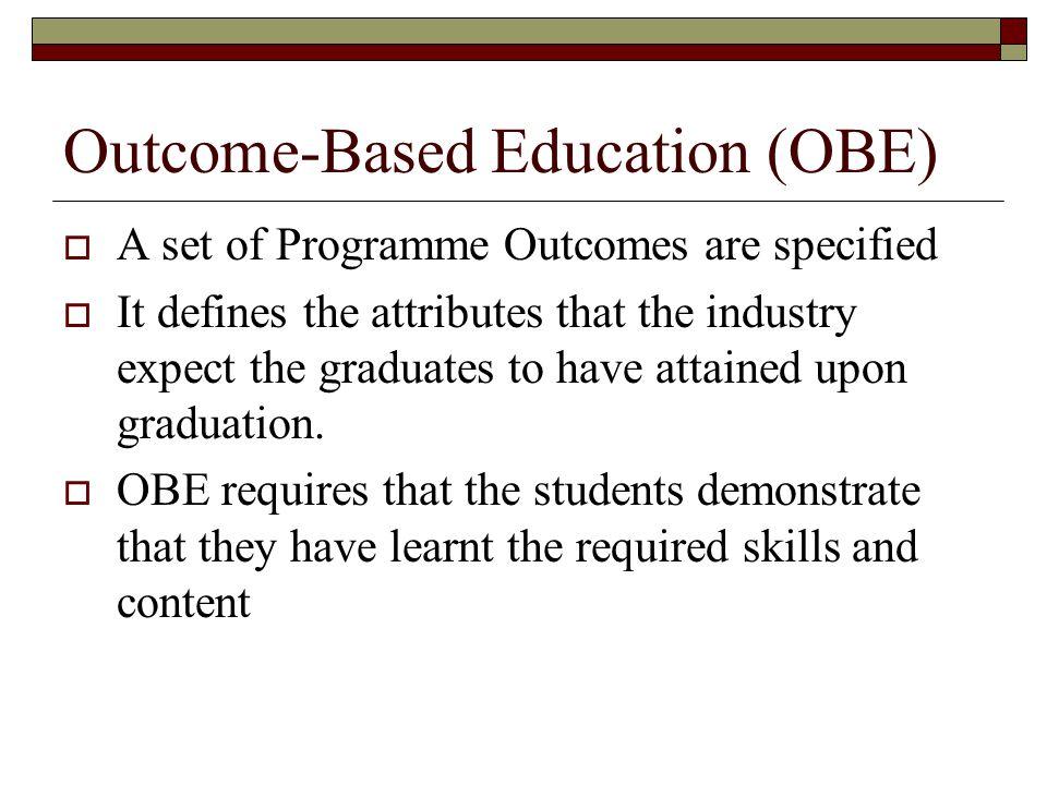 Outcome-Based Education (OBE)