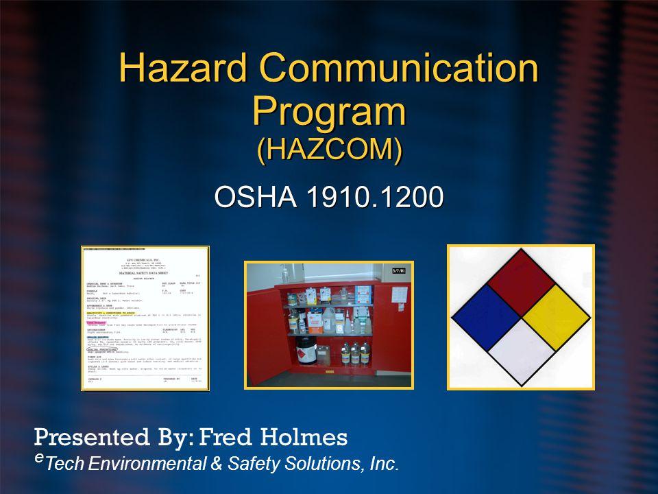 Hazard Communication Program (HAZCOM)