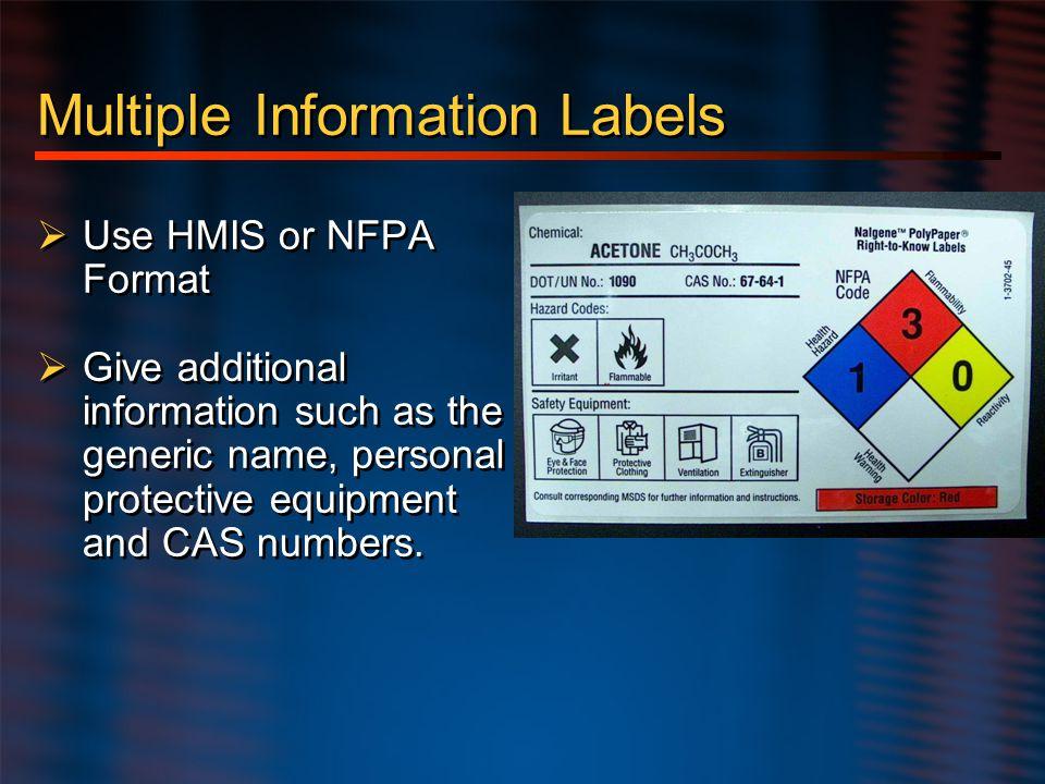 Multiple Information Labels