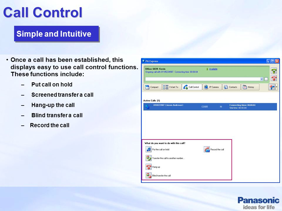 Call Control Simple and Intuitive