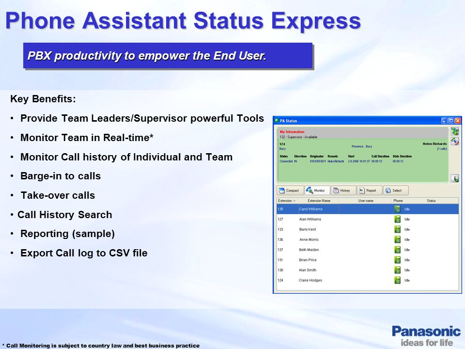 Phone Assistant Status Express