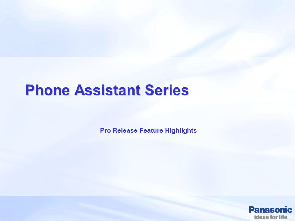Phone Assistant Series