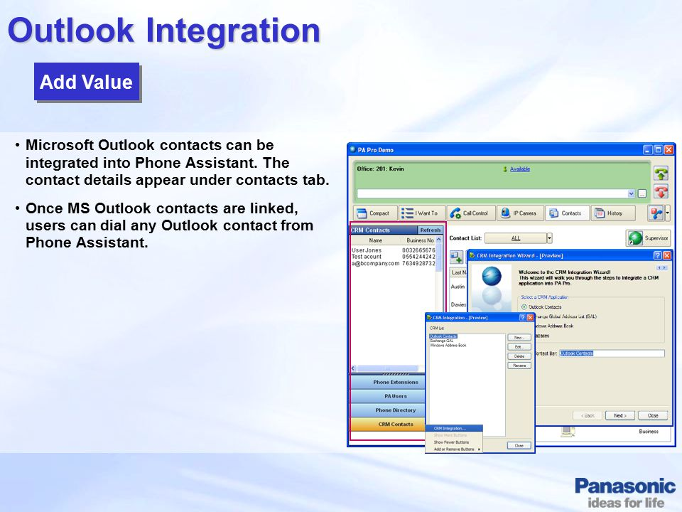 Outlook Integration Add Value