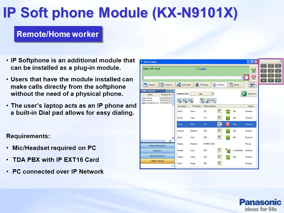 IP Soft phone Module (KX-N9101X)