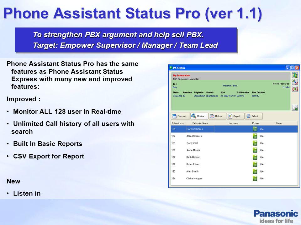 Phone Assistant Status Pro (ver 1.1)