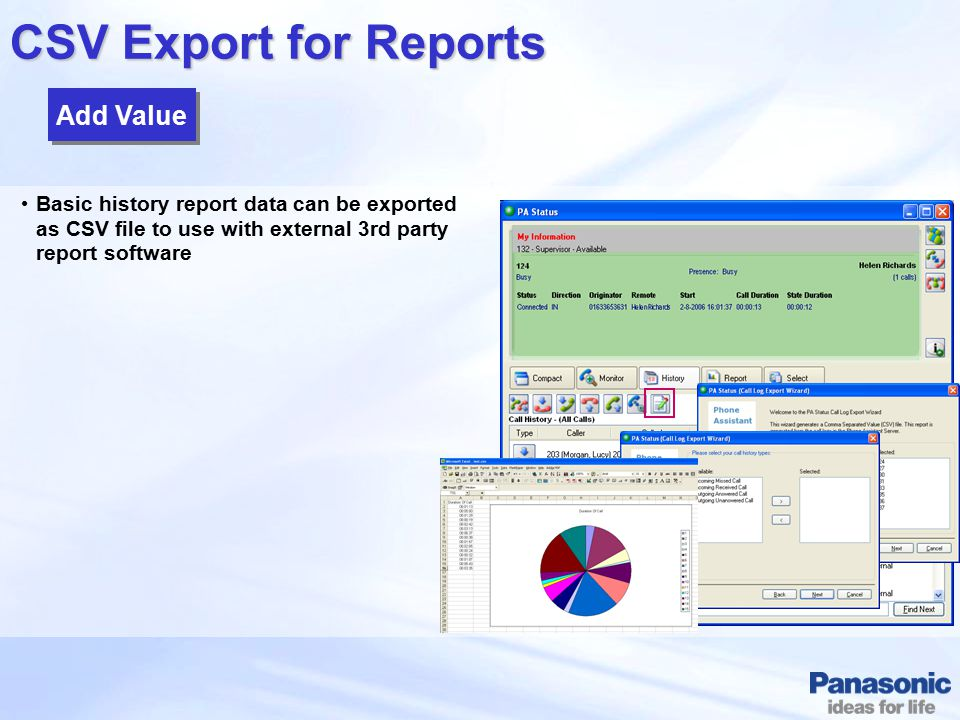 CSV Export for Reports Add Value