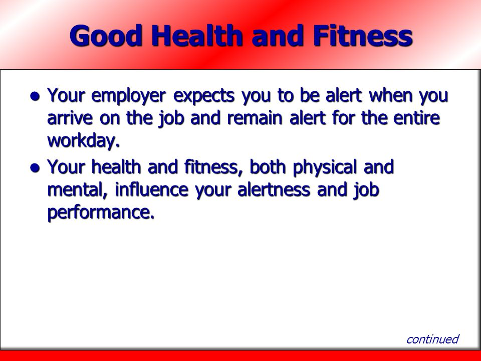 Good Health and Fitness