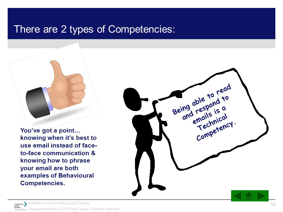 There are 2 types of Competencies:
