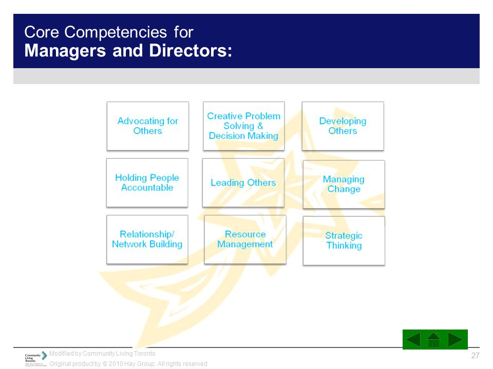 Core Competencies for Managers and Directors: