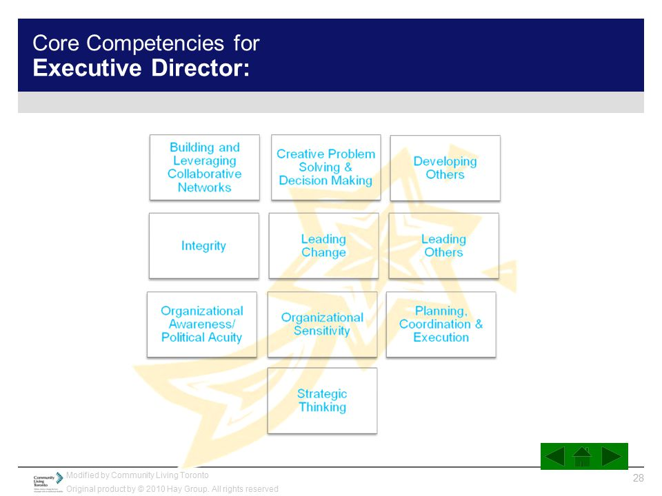 Core Competencies for Executive Director: