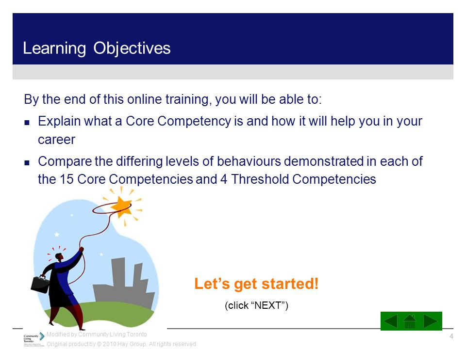 Learning Objectives Let's get started!