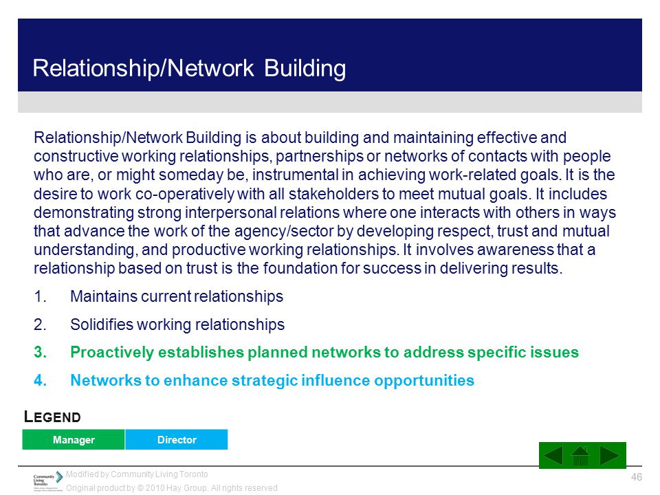Relationship/Network Building