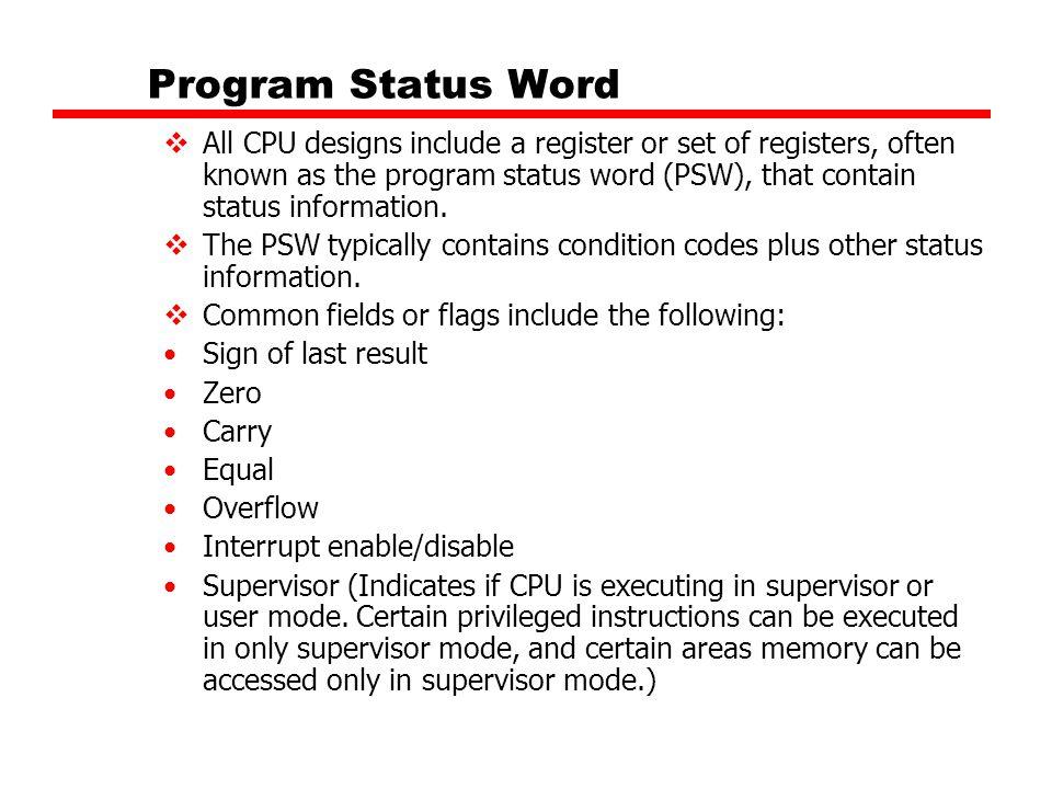 Program Status Word