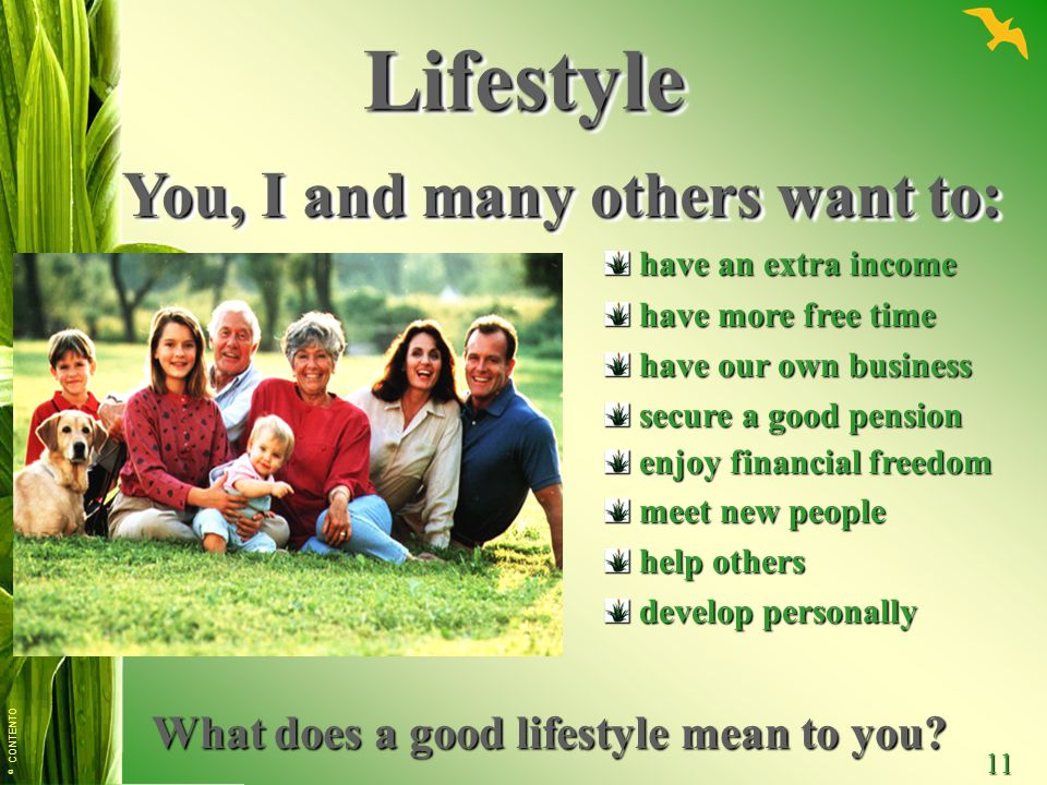 Lifestyle You, I and many others want to: