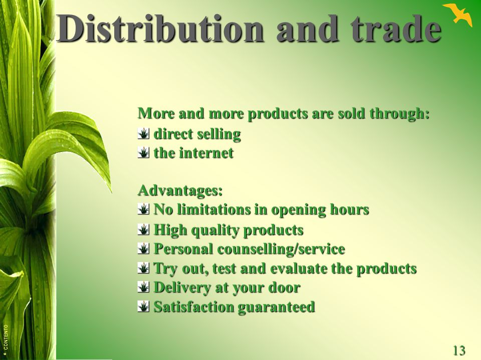Distribution and trade