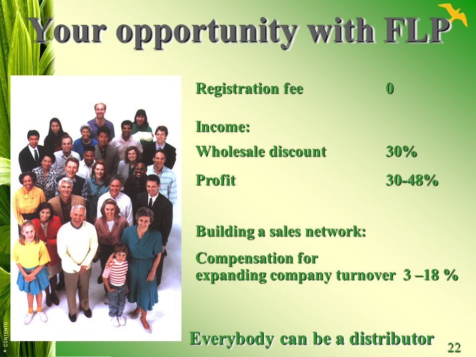 Your opportunity with FLP