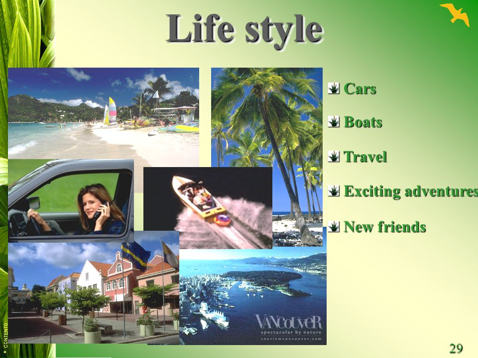 Life style Cars Boats Travel Exciting adventures New friends