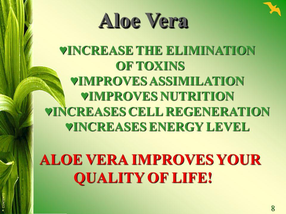 Aloe Vera ALOE VERA IMPROVES YOUR QUALITY OF LIFE!