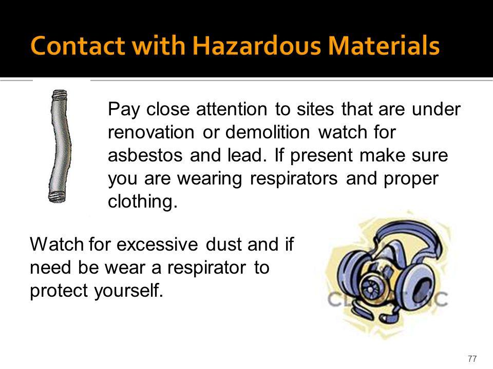 Contact with Hazardous Materials