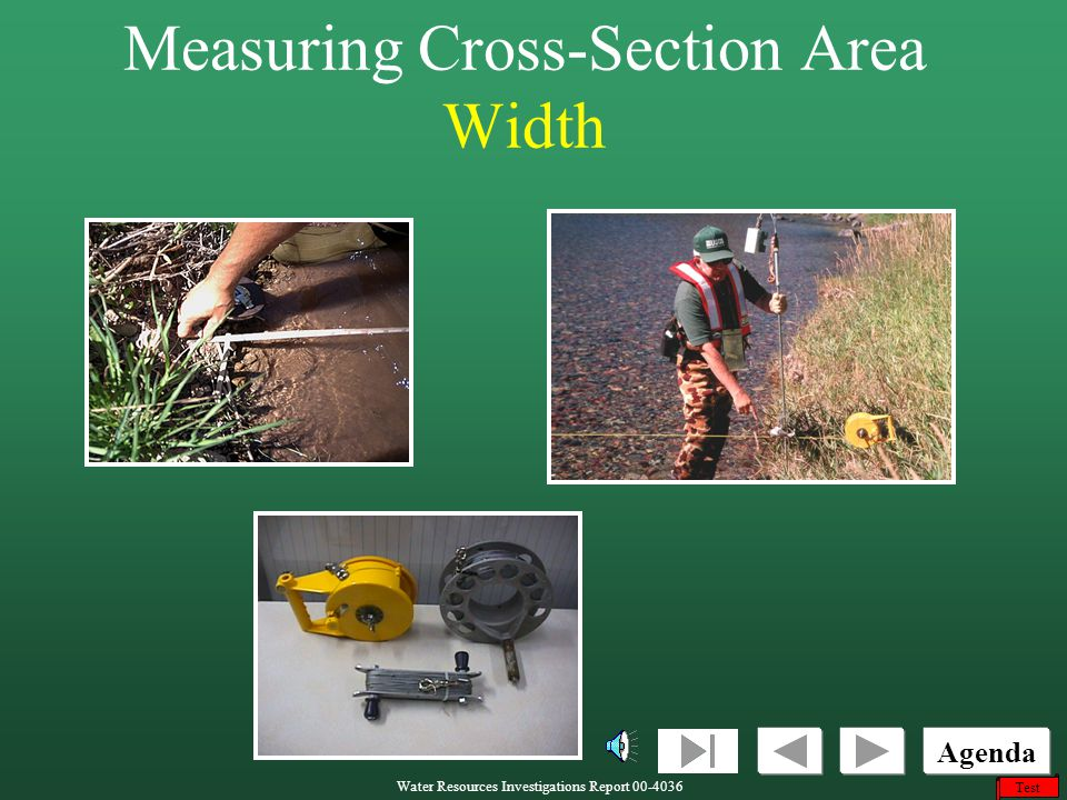 Measuring Cross-Section Area Width