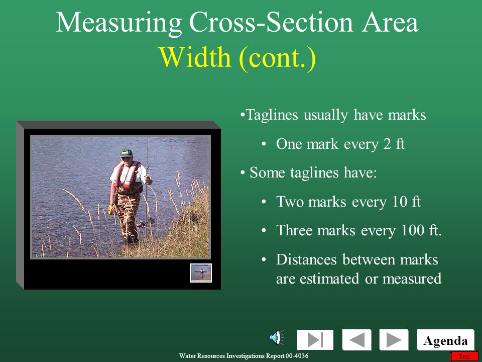 Measuring Cross-Section Area Width (cont.)