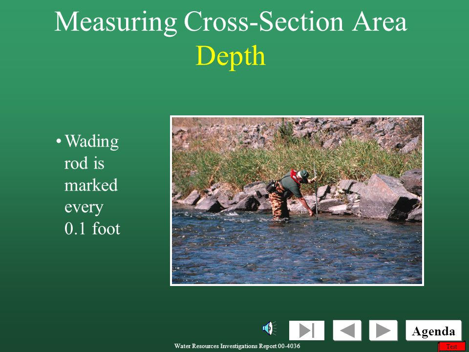 Measuring Cross-Section Area Depth