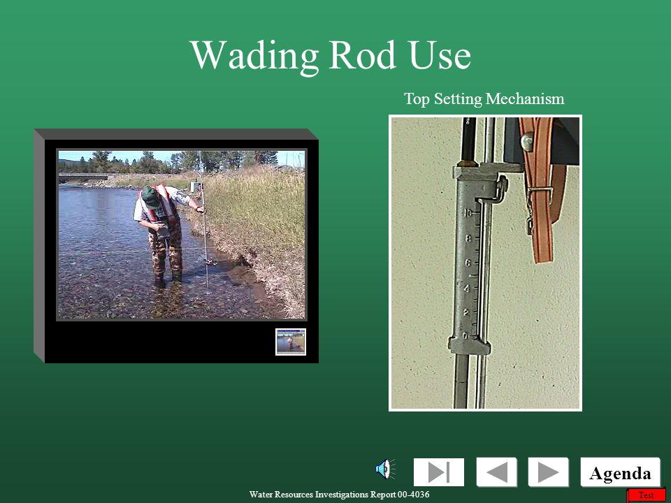 Wading Rod Use Top Setting Mechanism
