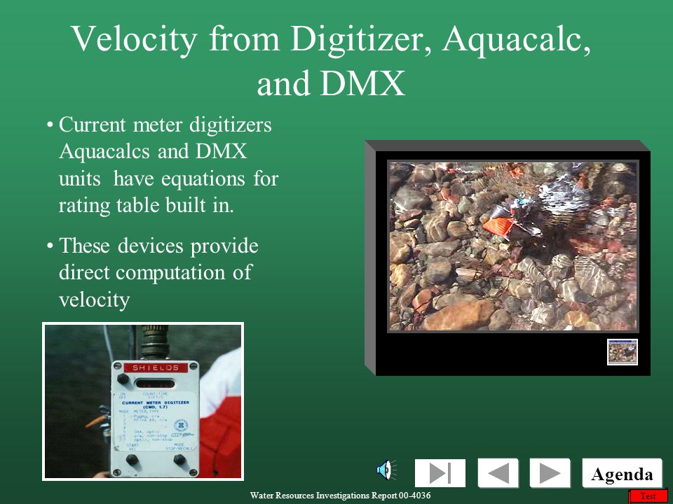 Velocity from Digitizer, Aquacalc, and DMX