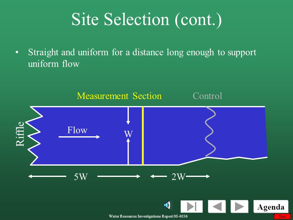 Site Selection (cont.) Riffle