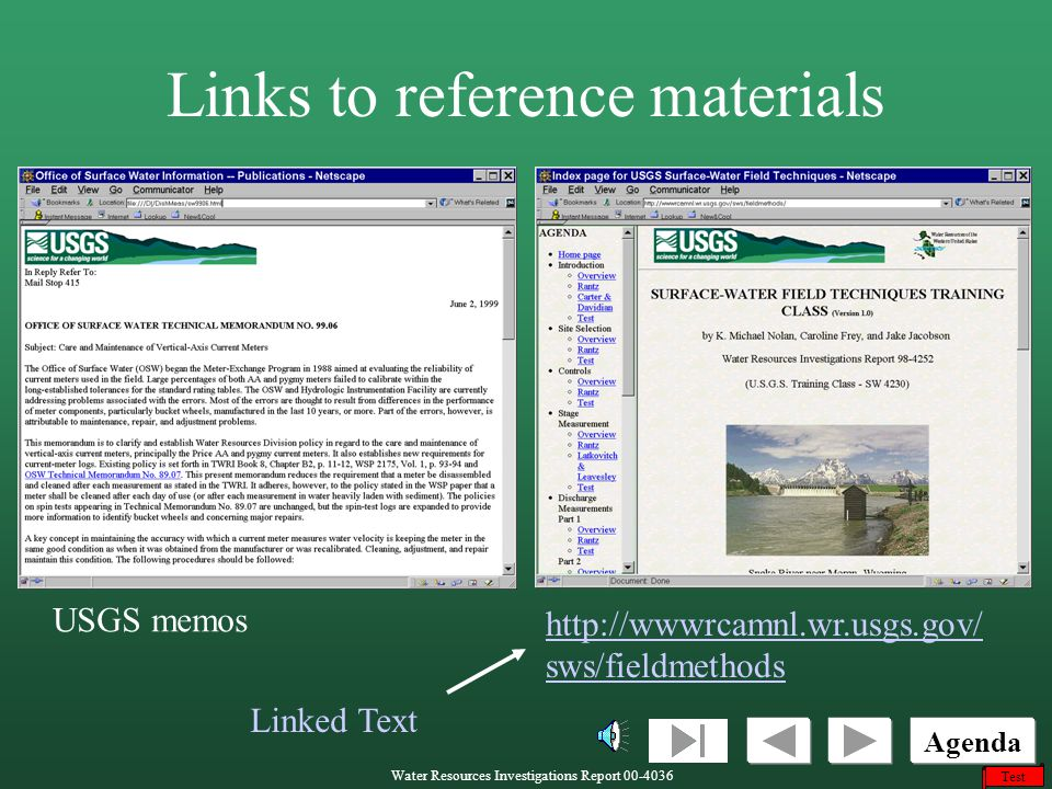 Links to reference materials