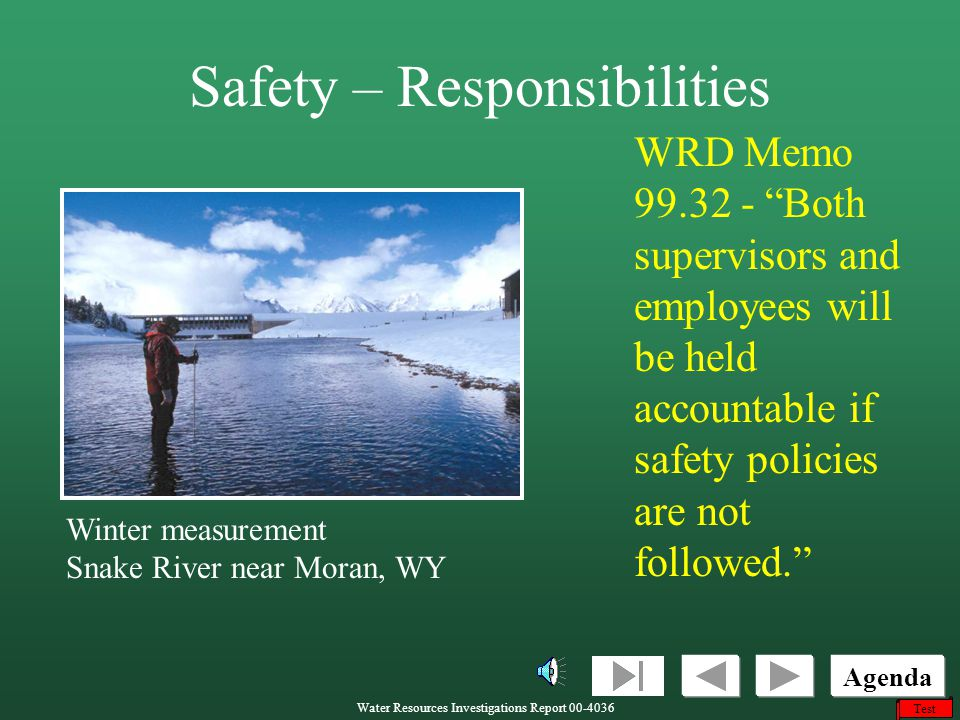 Safety – Responsibilities