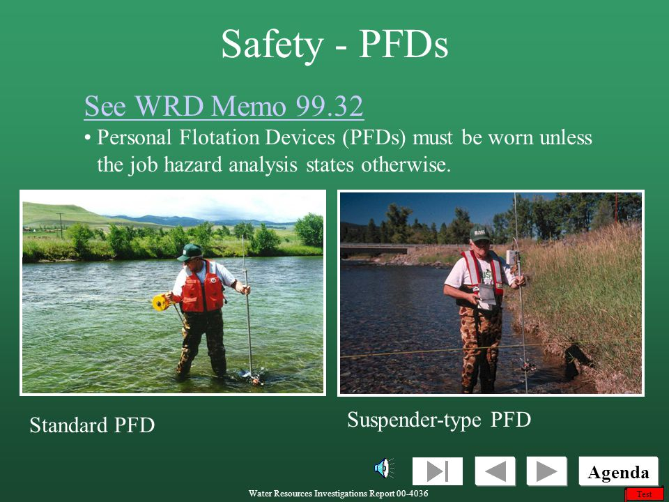 Safety - PFDs See WRD Memo 99.32