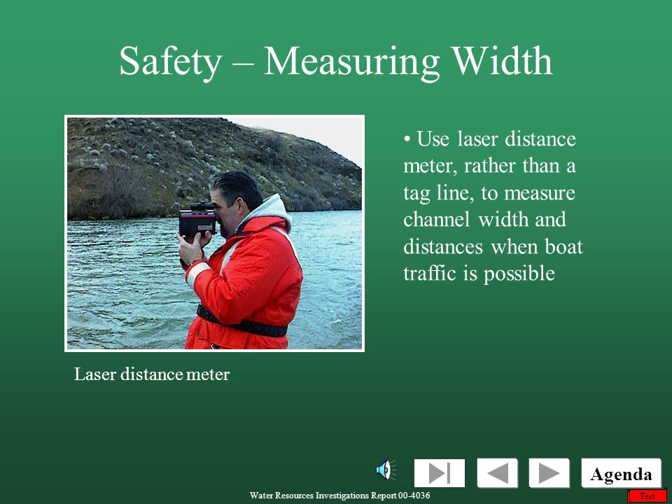 Safety – Measuring Width