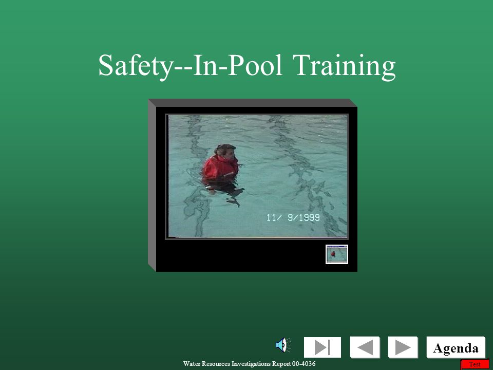 Safety--In-Pool Training