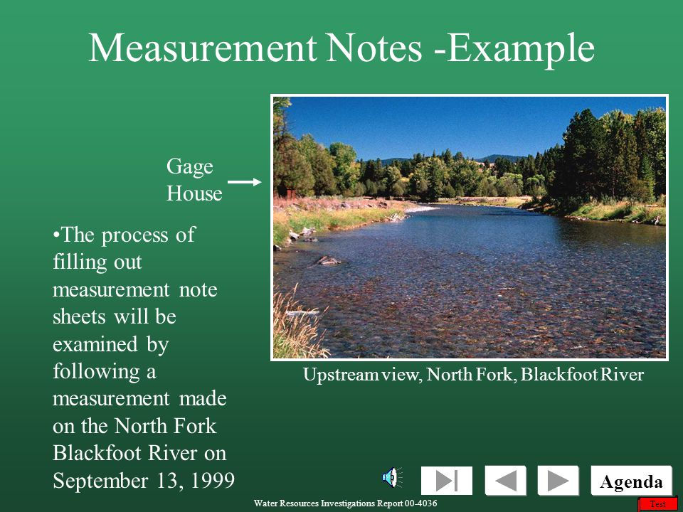Measurement Notes -Example