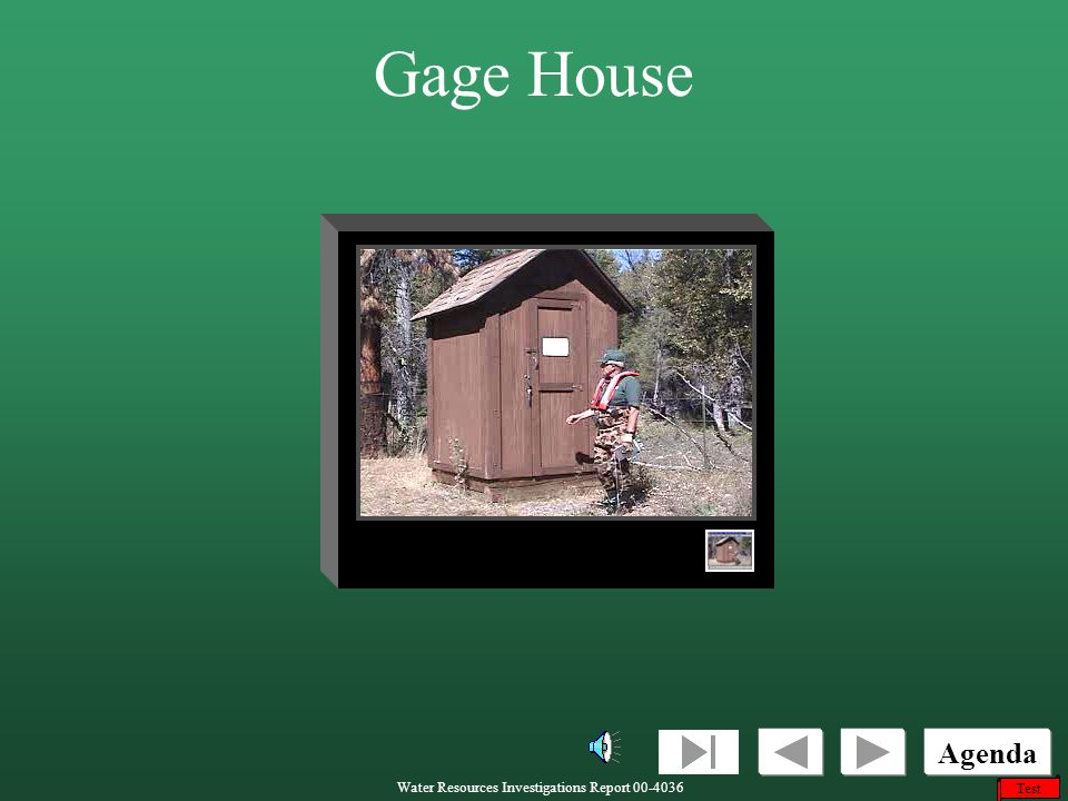 Gage House This video shows the gage house at the North Fork Site