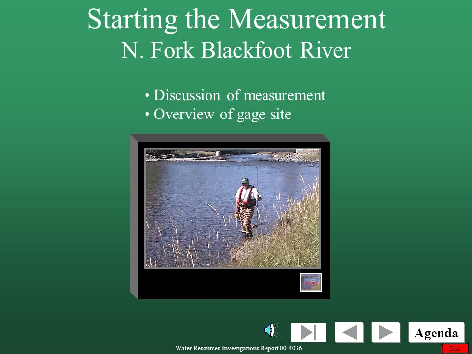 Starting the Measurement N. Fork Blackfoot River