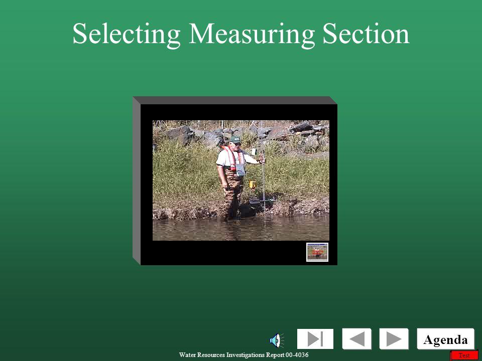Selecting Measuring Section