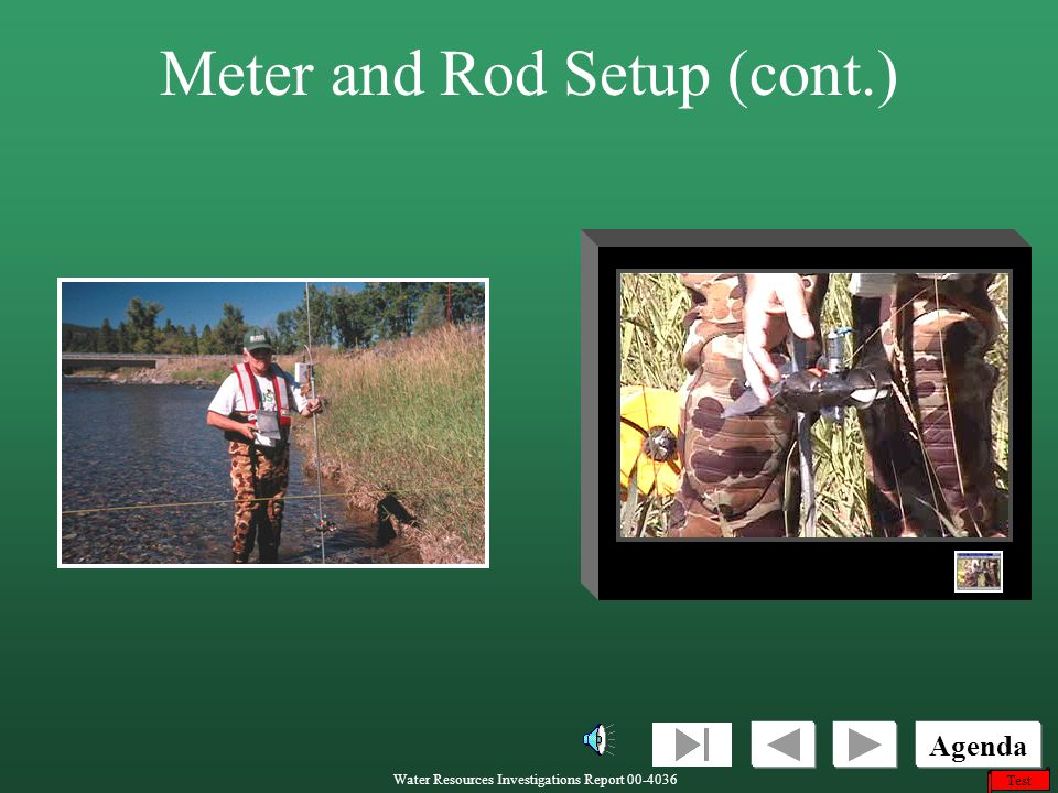 Meter and Rod Setup (cont.)