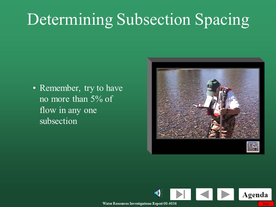 Determining Subsection Spacing