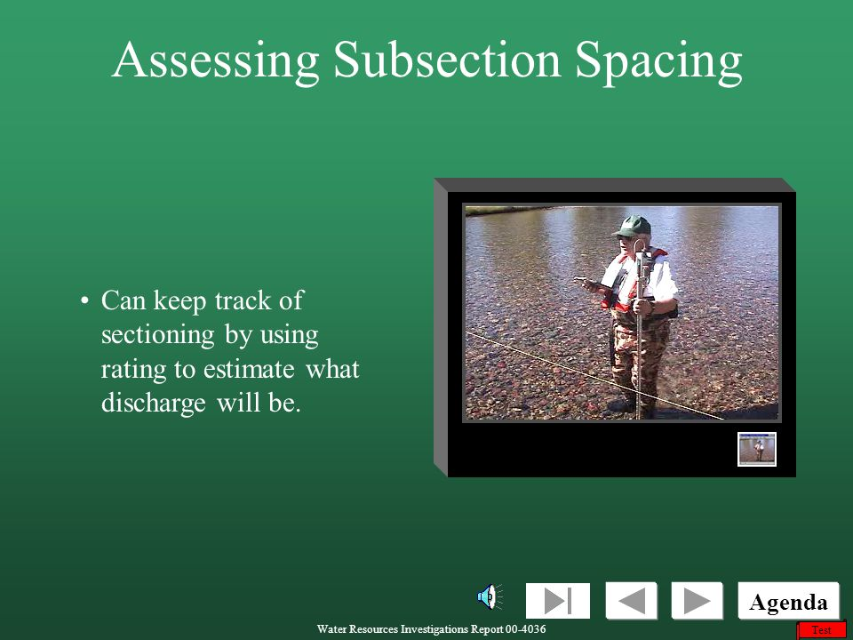 Assessing Subsection Spacing