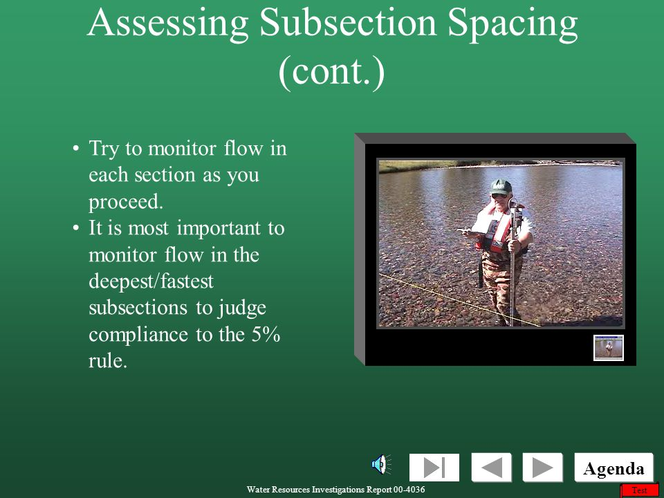 Assessing Subsection Spacing (cont.)
