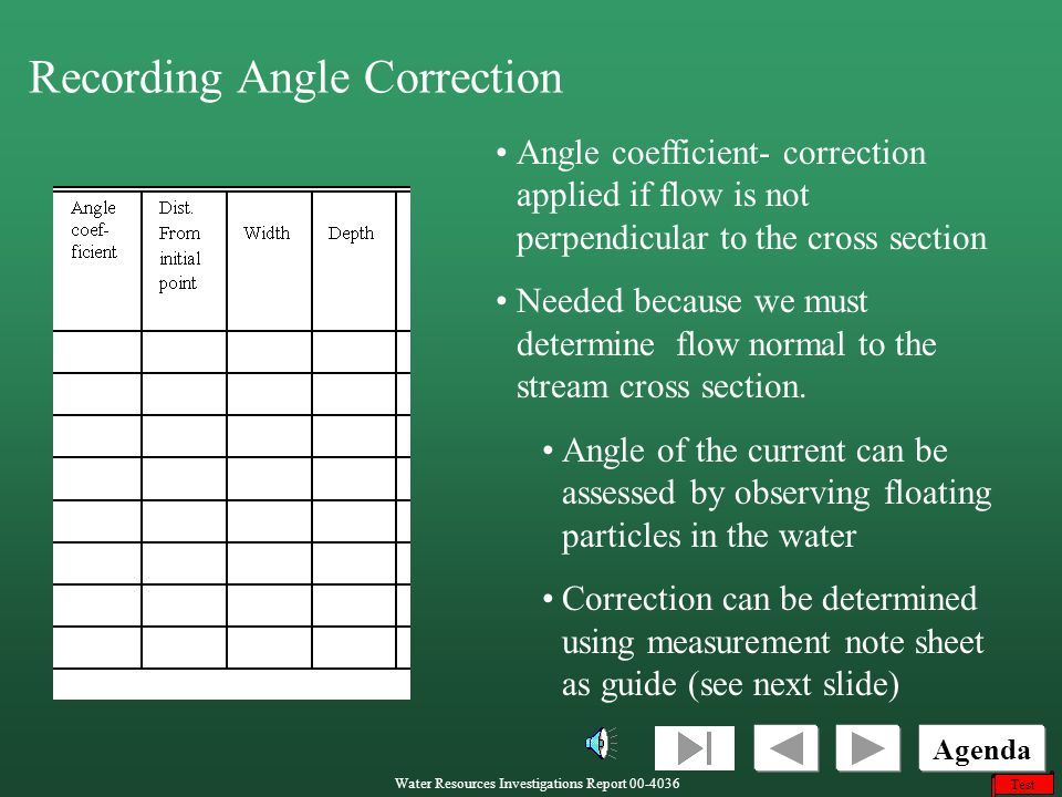 Recording Angle Correction