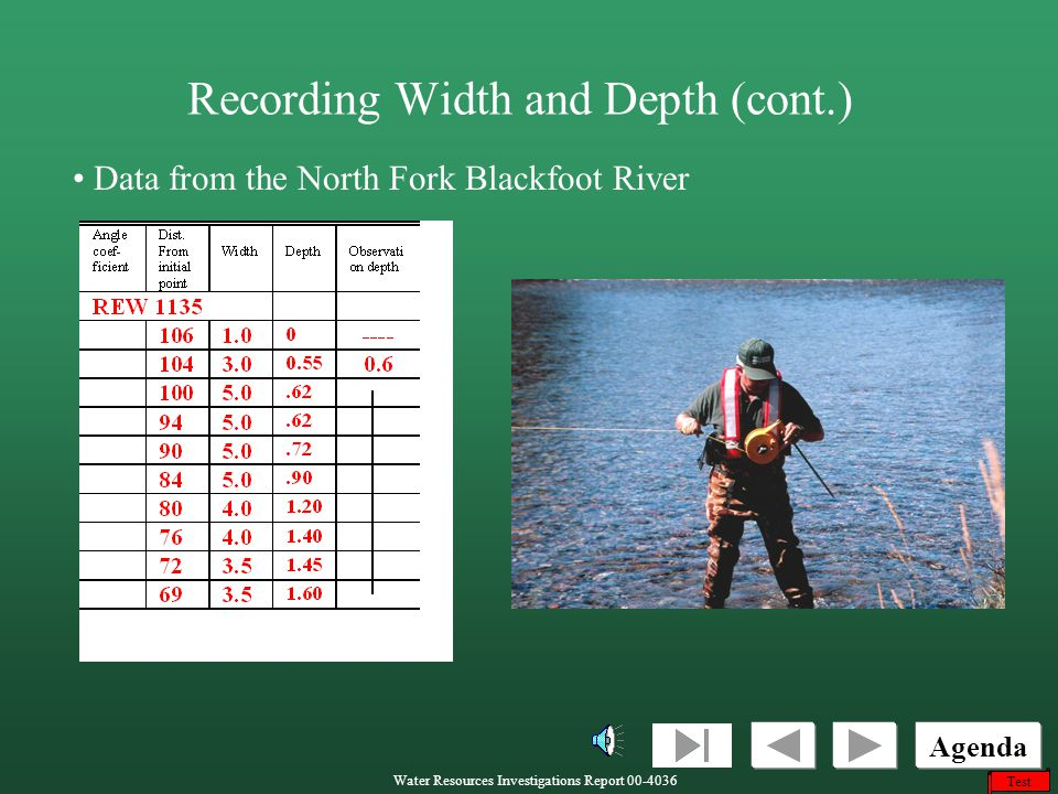 Recording Width and Depth (cont.)