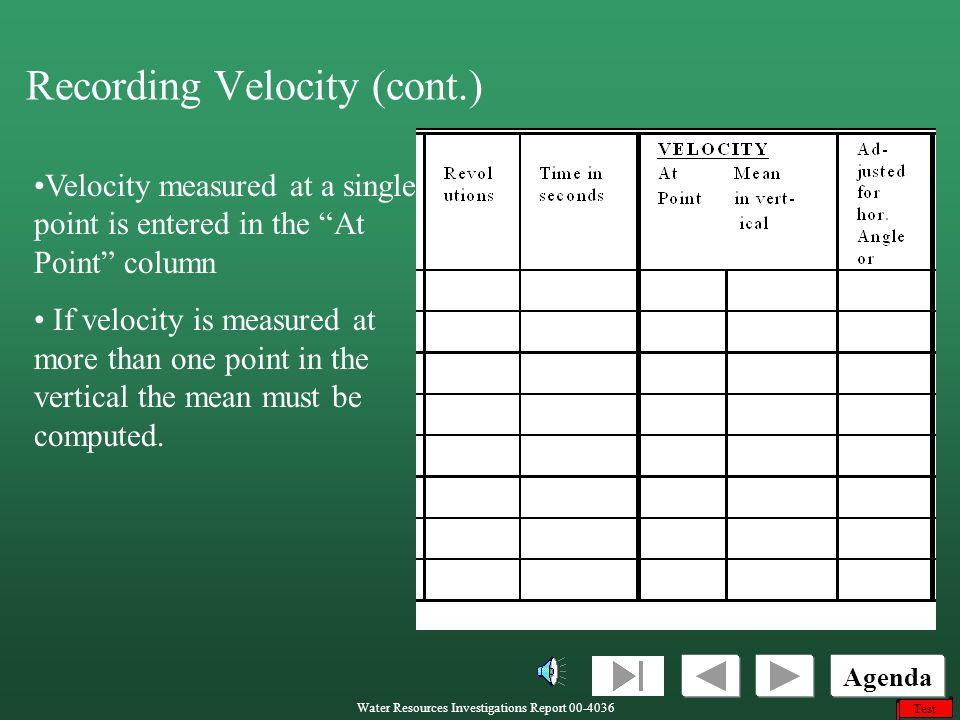 Recording Velocity (cont.)