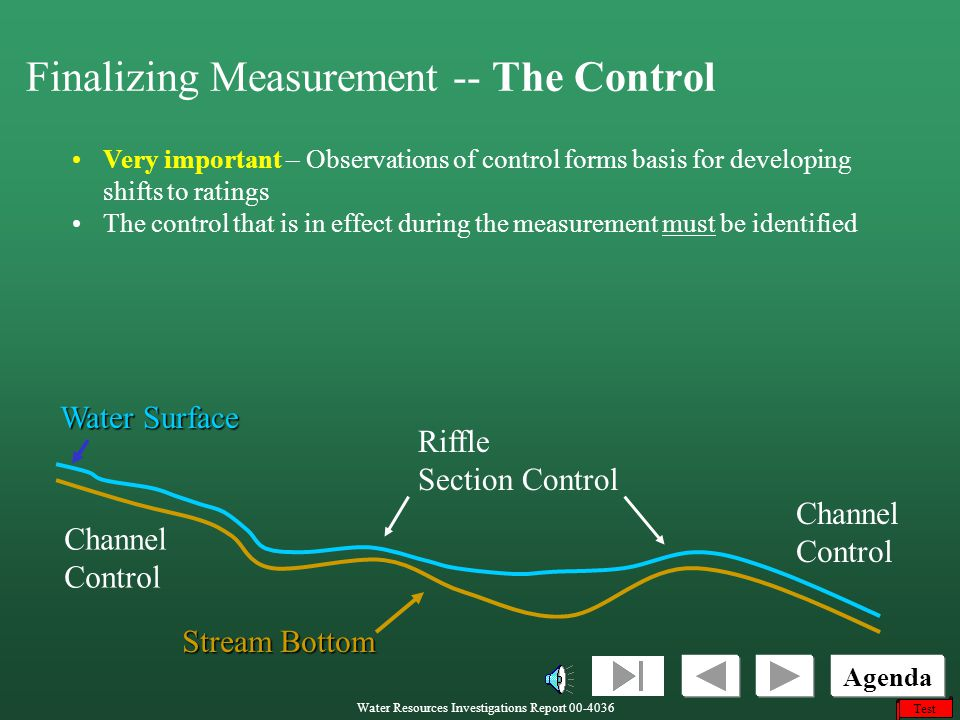 Finalizing Measurement -- The Control