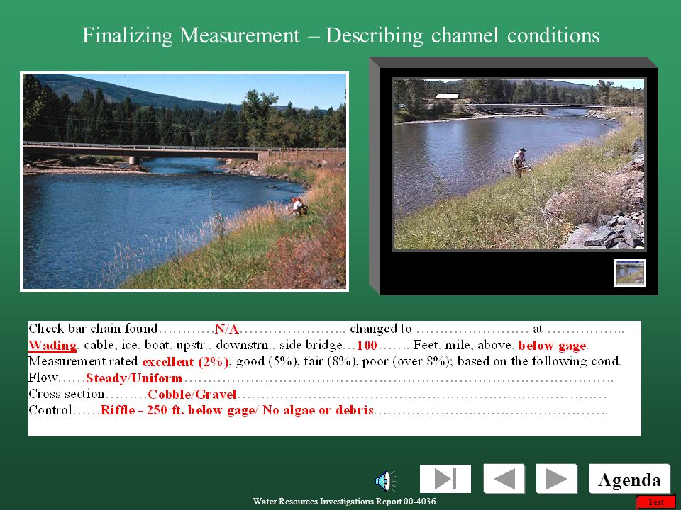 Finalizing Measurement – Describing channel conditions