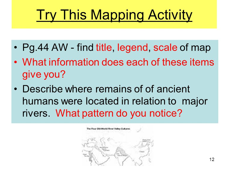 Try This Mapping Activity