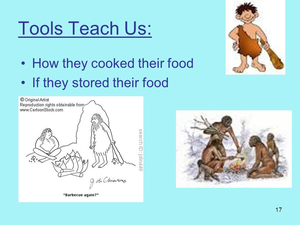 Tools Teach Us: How they cooked their food If they stored their food