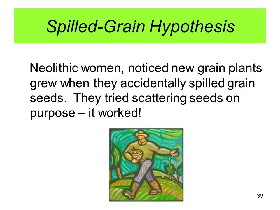 Spilled-Grain Hypothesis